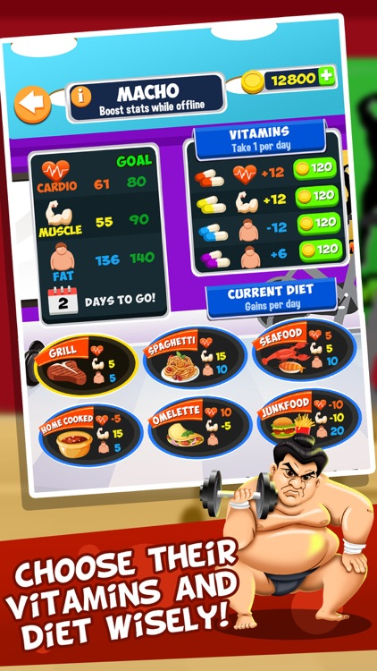 Gym Fit to Fat Race - real run jump-ing & wrestle boxing games for kids! screenshot-3