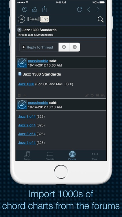 iReal Pro - Music Book & Play Along app image
