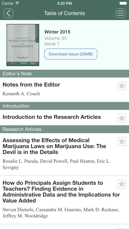 Journal of Policy Analysis and Management screenshot-4