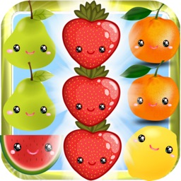 Crazy Fresh Fruit Match-3 Line