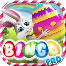 Happy Easter with Bunny and Eggs Bingo Pro - Tap the fortune ball to win the lotto prize