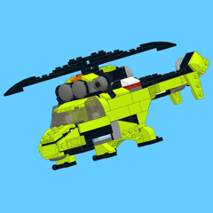 Green Copter for LEGO Creator 31007 Set - Building Instructions