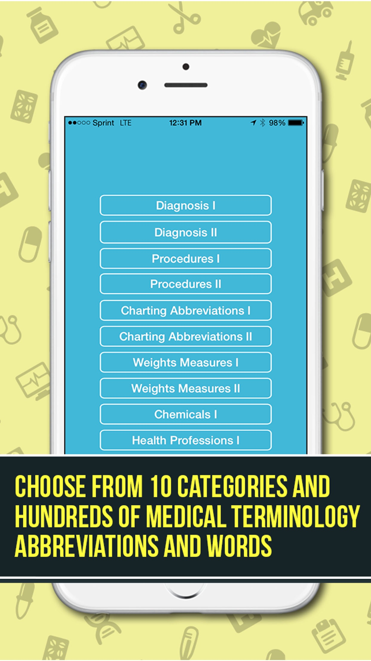 Guess The Medical Terminology - A Word Game And Quiz For Students, Nurses, Doctors and Health Professionals Screenshot