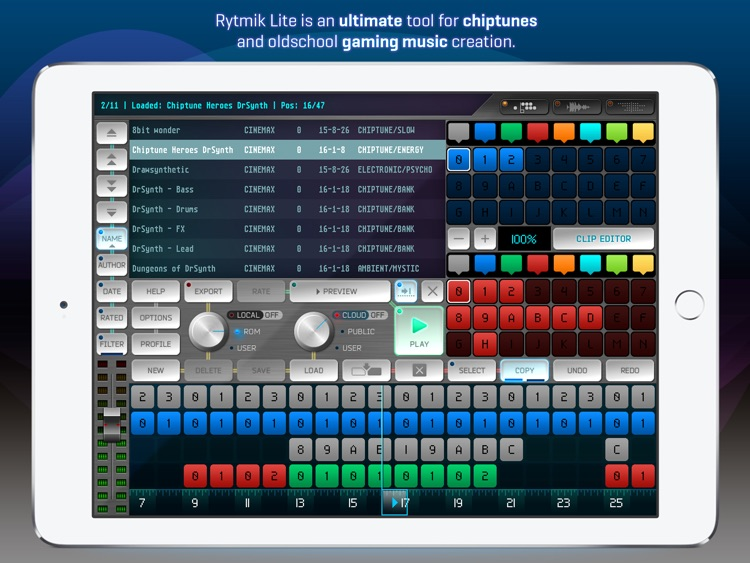Rytmik Lite Chiptune Synthesizer