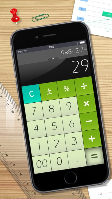 Calculator Free for iPhone屏幕截圖1