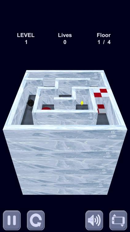 Ice cube. Labyrinth 3D