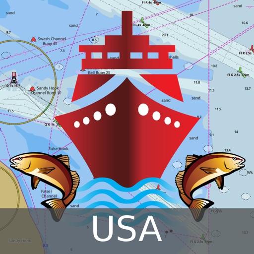 Marine Navigation - Lake Depth Maps - USA - Offline Gps Nautical Charts for Fishing, Sailing and Boating