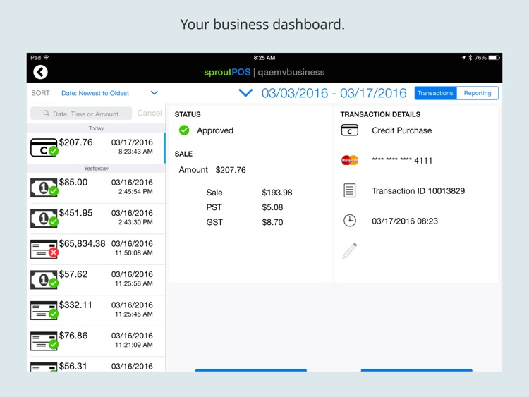 sproutPOS Mobile Point Of Sale for iPad screenshot-4