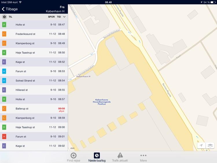 Rejseplanen til iPad screenshot-4