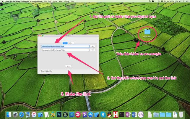 Cloud Storage Helper - Create Link To Sync Any Folder