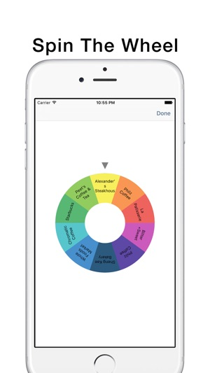 wheel of lunch on the app store
