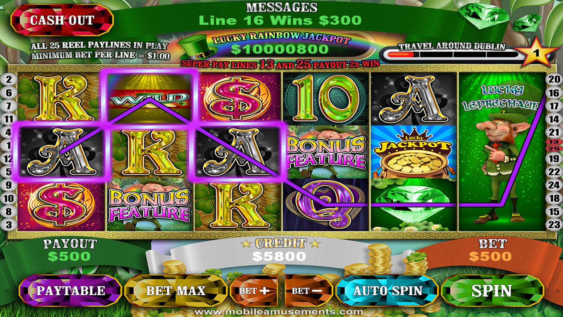 Crock O'Gold Slots 2 - Dublin Yer Cash TV screenshot 1