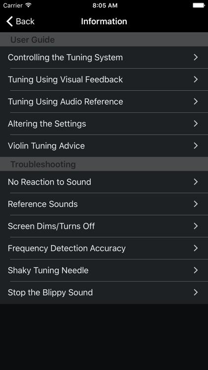 Precision Violin Tuner screenshot-3