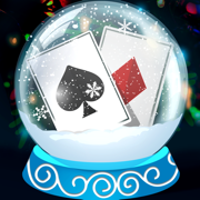 Solitaire Christmas. Match 2 Cards. Card Game