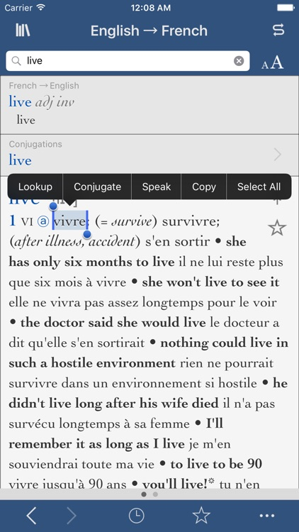 Collins-Robert Concise French Dictionary screenshot-3