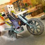 Course De Mini Motocyclette Avec Armes. Jeu De Moto Pixel Pour Enfants pour pc