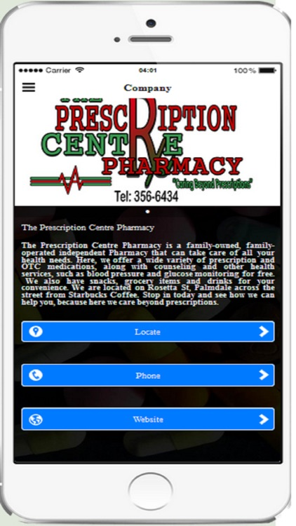 Prescription Centre