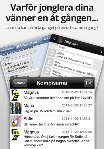 SMSgrupp. screenshot 1