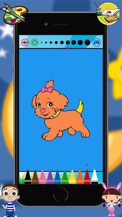 Baby Animals Kids Coloring Book For kindergarten and toddler screenshot-4