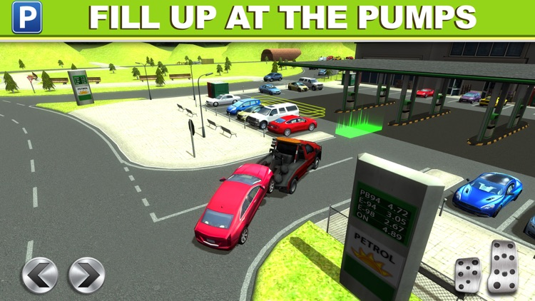 Gas Station Car Parking Simulator a Real Road Racing Park Game