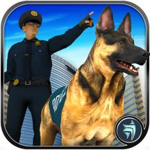 Police Dog Chase Street Criminals