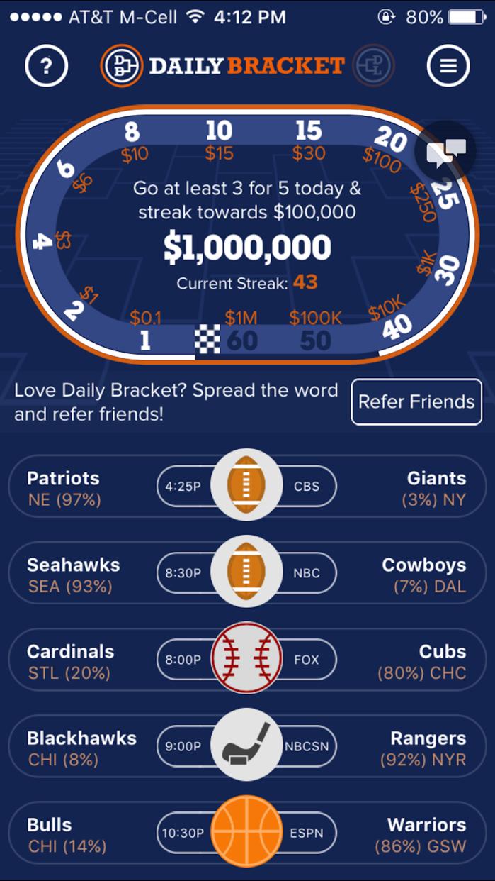 Daily Bracket: Sports Pick'em Screenshot