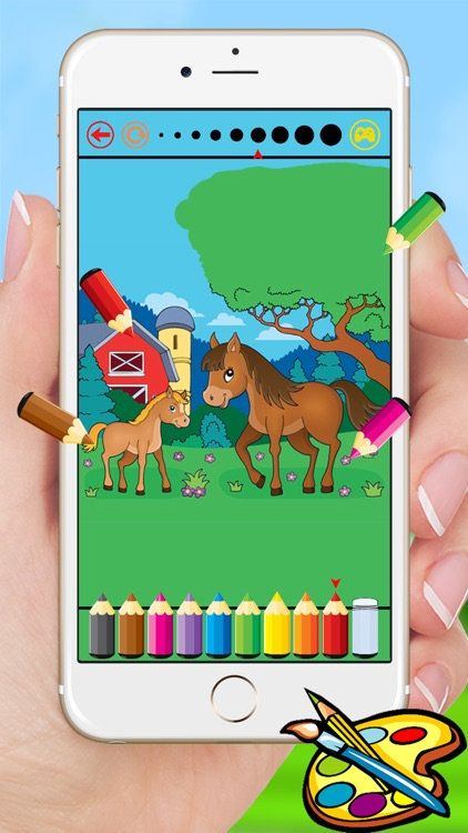 Farm & Animals coloring book - drawing free game for kids