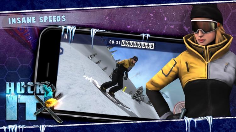 Huck It Skiing 3D screenshot-3