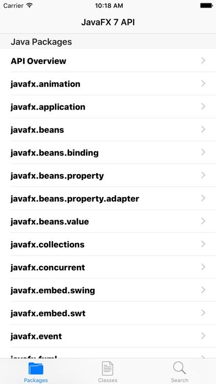 JDoc - JavaFX 7 API