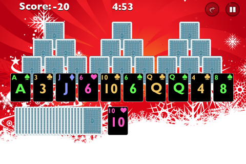 Tri Xmas Tree Solitaire screenshot 2
