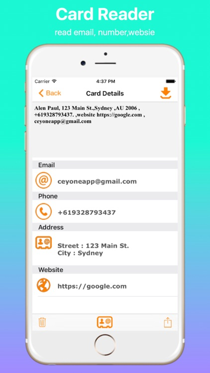 Business Card Reader Professional