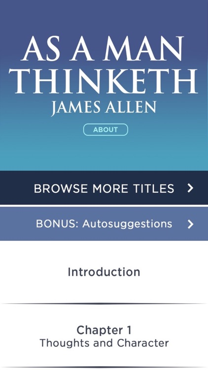 As A Man Thinketh Meditations By James Allen screenshot-1
