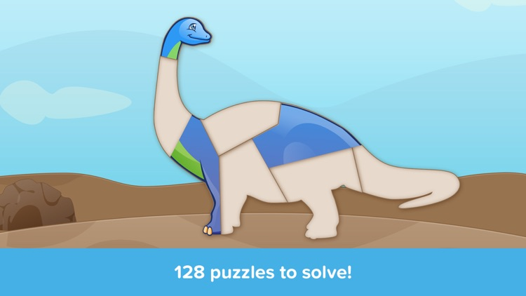 Kids Puzzles - Dinosaurs - Early Learning Dino Shape Puzzles and Educational Games for Preschool Kids Lite screenshot-1