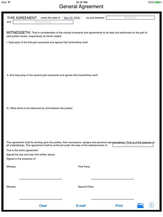 Simple General Agreement screenshot-4