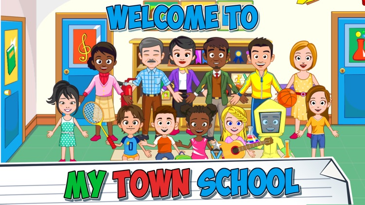 My Town : School screenshot-0
