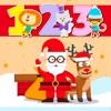 サンタクロースにより1〜100の無料英語の数字を学習