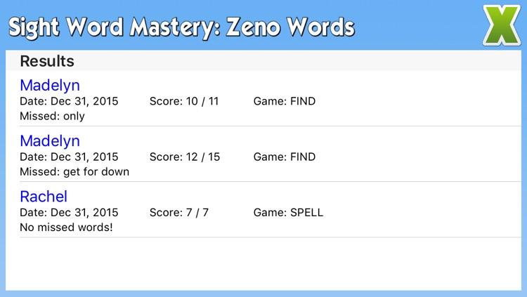 Sight Word Mastery: Zeno Words screenshot-3