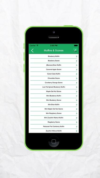 Nutrition Calculator for Starbucks