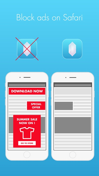 Screenshot for Crystal Adblock – Block unwanted ads! in Czech Republic App Store