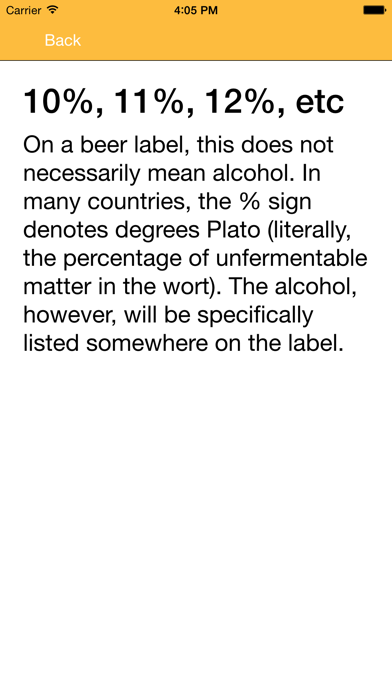 Beer Glossary A-Z screenshot two