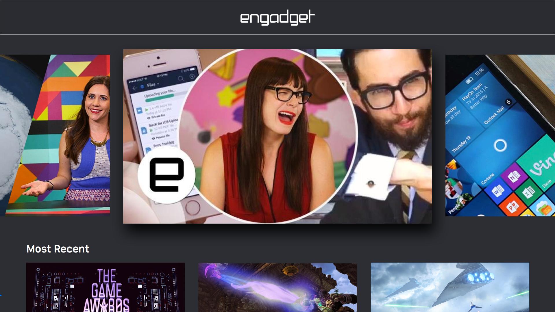Engadget screenshot 2