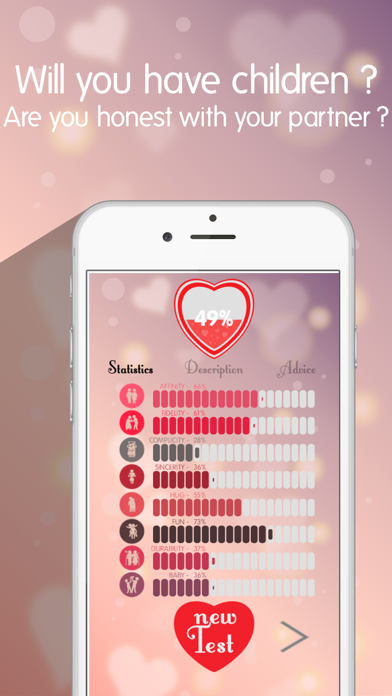 Download Love test to find your partner - Hearth tester calculator app for Pc