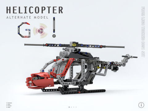 Helicopter for LEGO Technic 8051 Set - Building Instructions | App