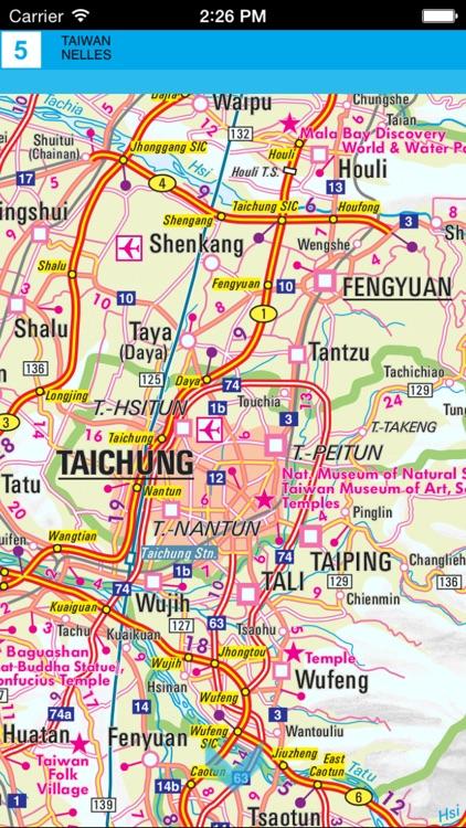 Taiwan. Tourist map. screenshot-3