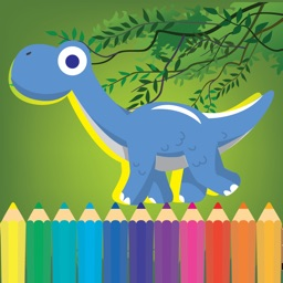 Dinosaur Coloring book and learn abc Alphabet 123 Numbers