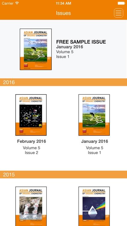 asian journal of organic chemistry