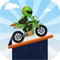 Drive your bike through amazing tracks with jumps and loops in this simple and fast-paced physics-based game
