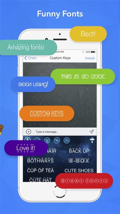 Custom Keys - keyboard with fancy emoji and free cool fonts