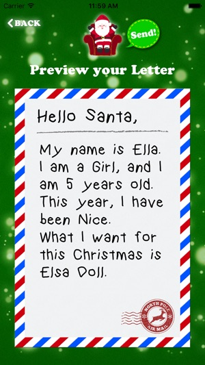 Letter To Santa Claus Write To Santa North Pole On The App Store