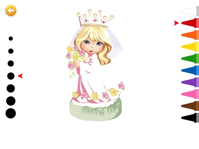 Prenses Boyama Boyama Oyunlari Okul Oncesi Anaokulu App Store Da